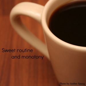Sweet routine and monotony