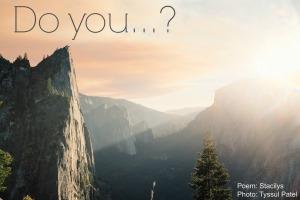 Do you...