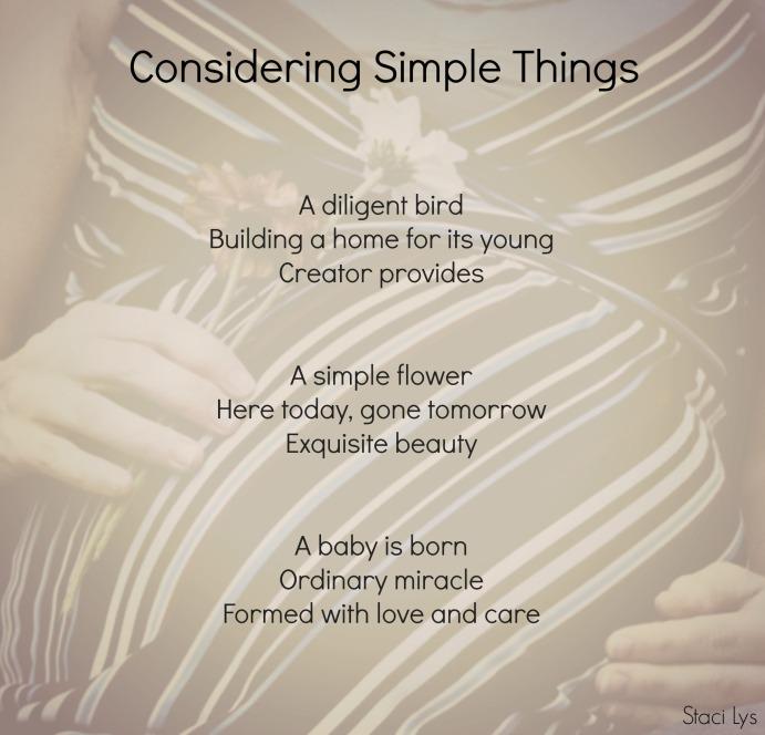 Considering Simple Things
