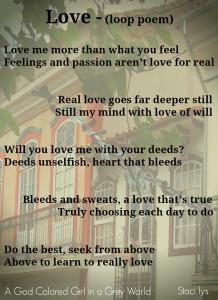 Love loop poem