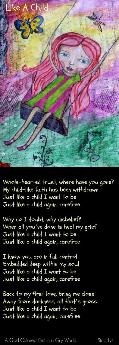 Like a child - poem & art