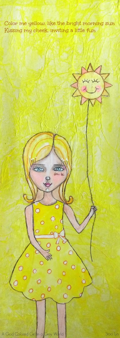Color me yellow - Part 5 of a 9 part poem on mixed media